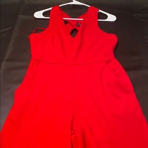 Express Red open back jumpsuit